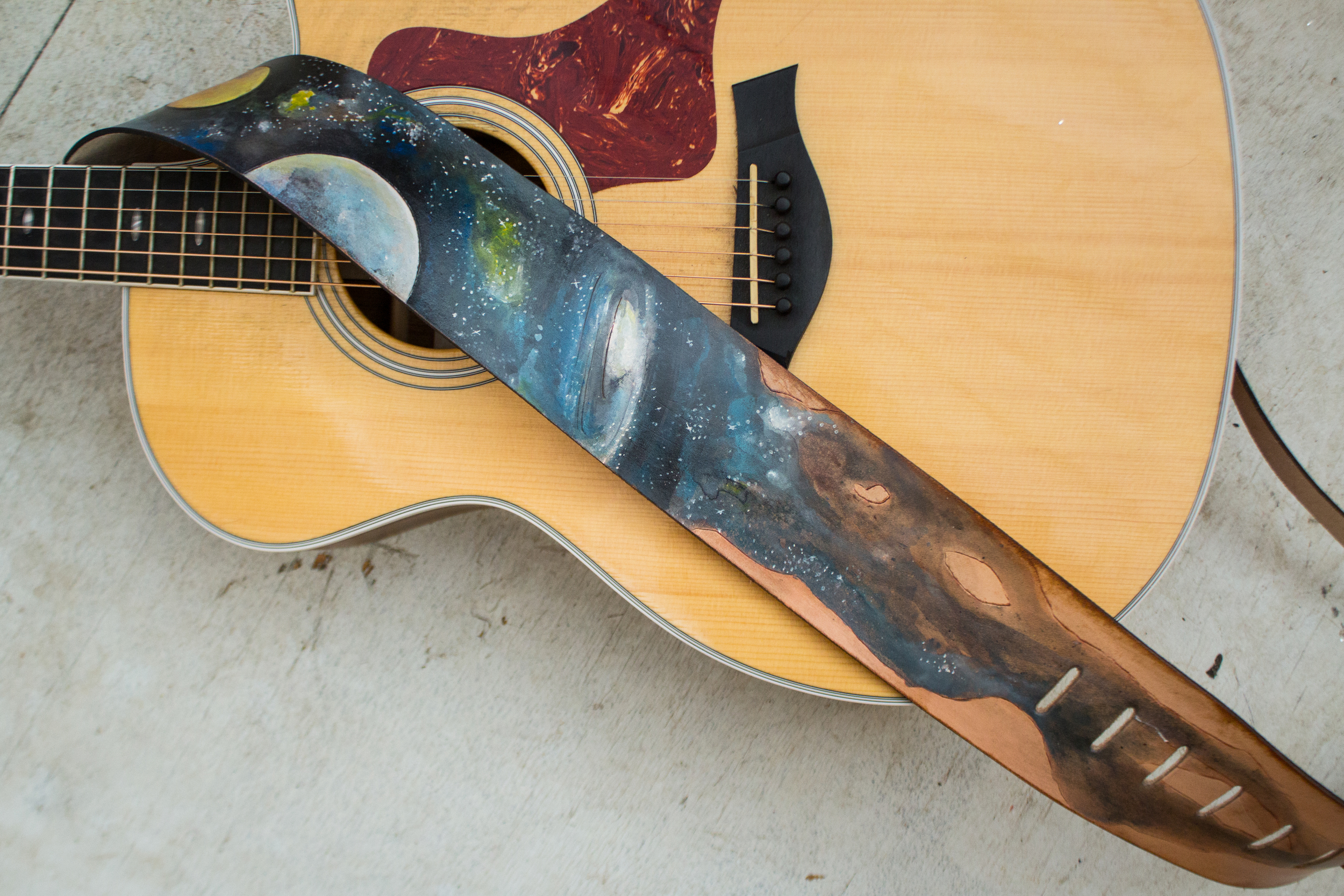 custom space guitar strap-4