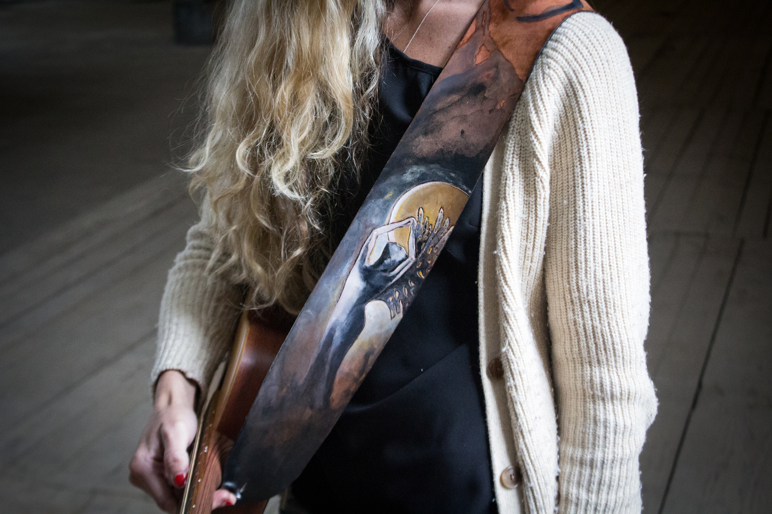 moon goddess guitar strap-5