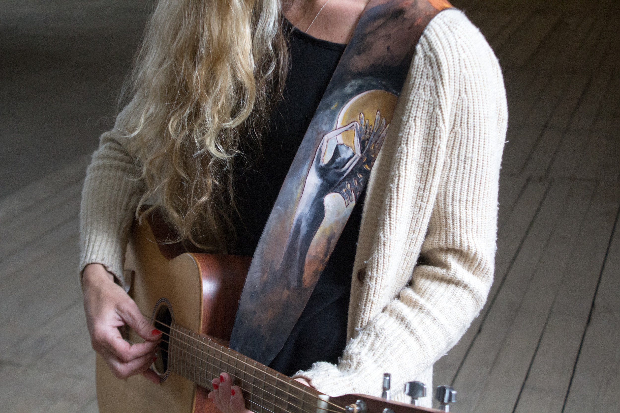 moon goddess guitar strap-6
