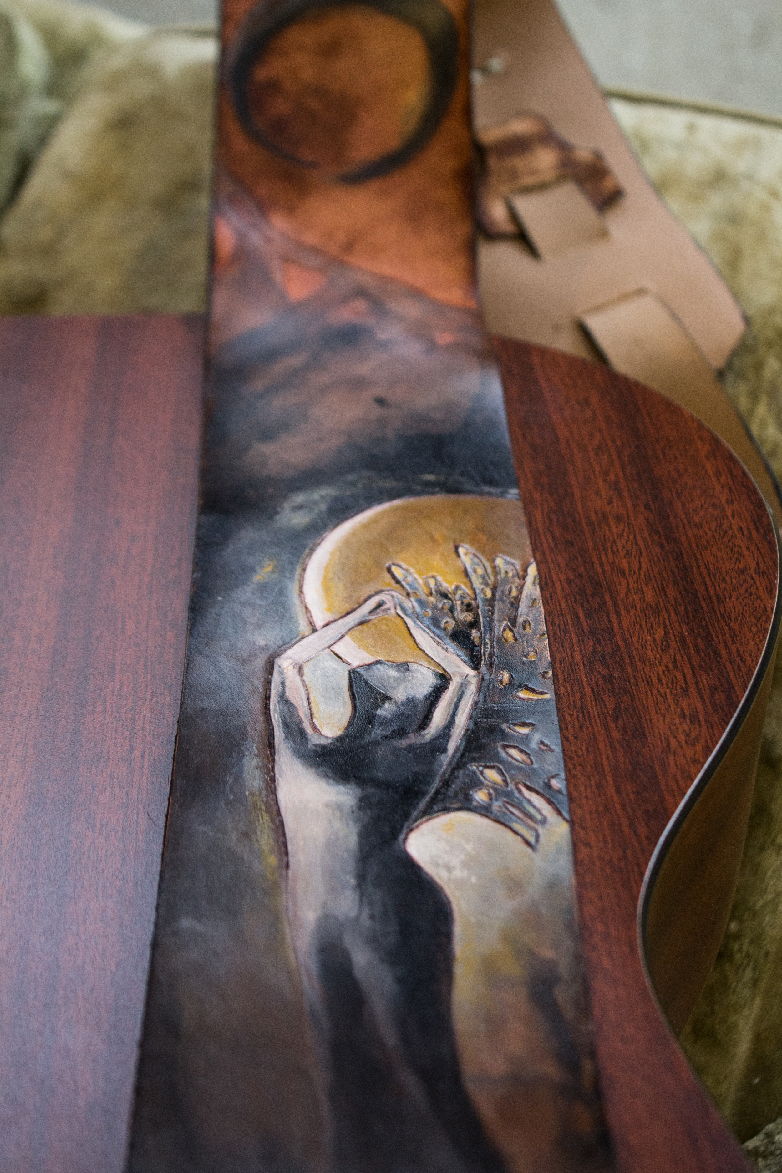 moon goddess guitar strap-9
