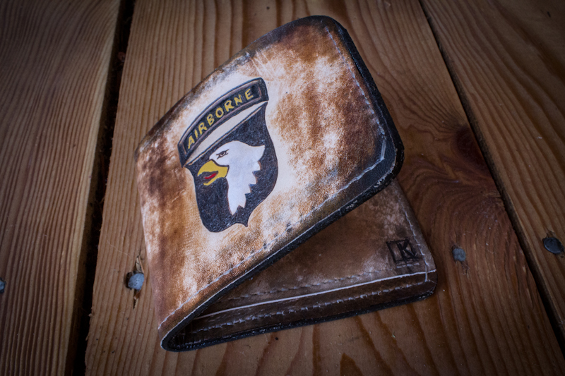 airborne leather wallet