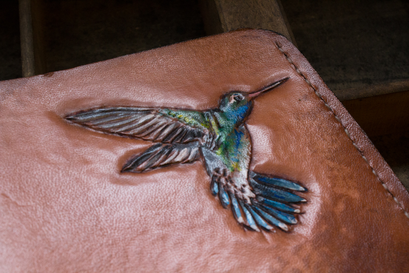 hummingbird leather wallet-4