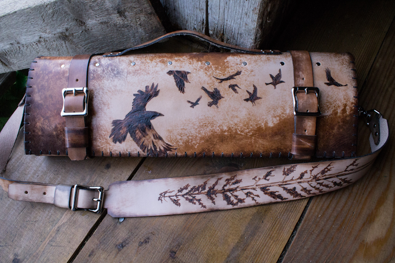 sequoia and ravens leather chef knife roll-12