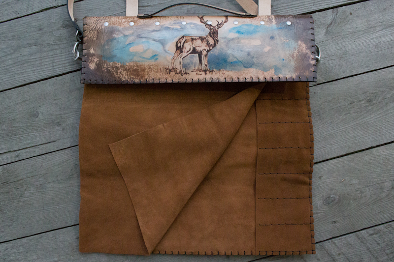 Deer in the mist custom leather chef roll-10.jpg