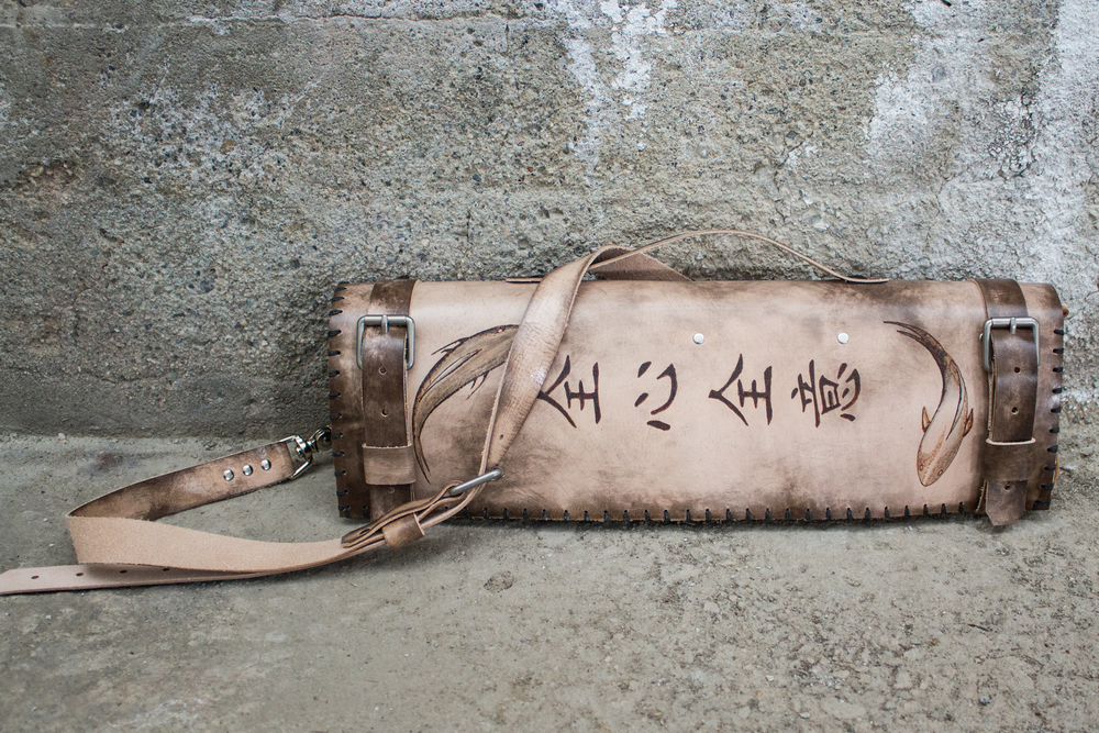 Koi leather knife roll-5.jpg