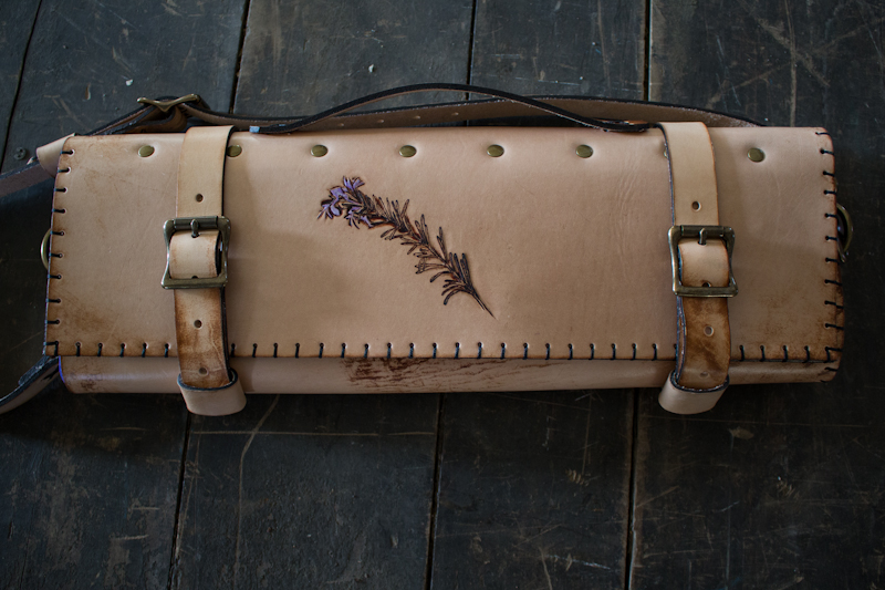 Lavender sprig chef knife roll-5.jpg