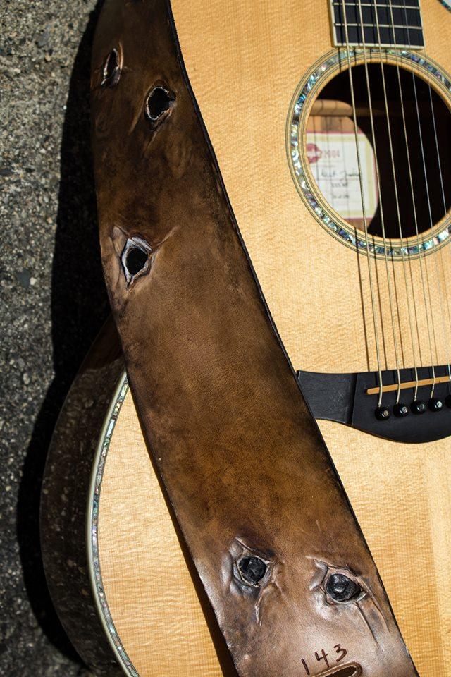 Bullet Holes Guitar Strap Linny Kenney.jpg