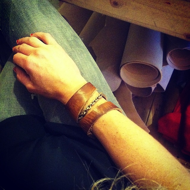 chain and leather cuff Linny Kenney.jpg