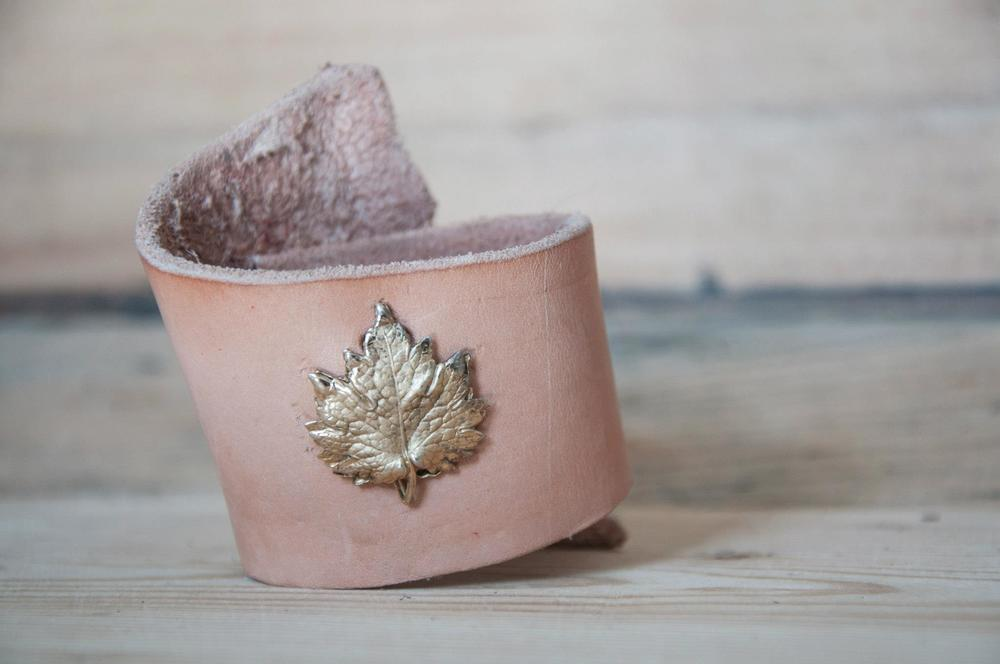 golden maple leaf cuff Linny Kenney.jpg