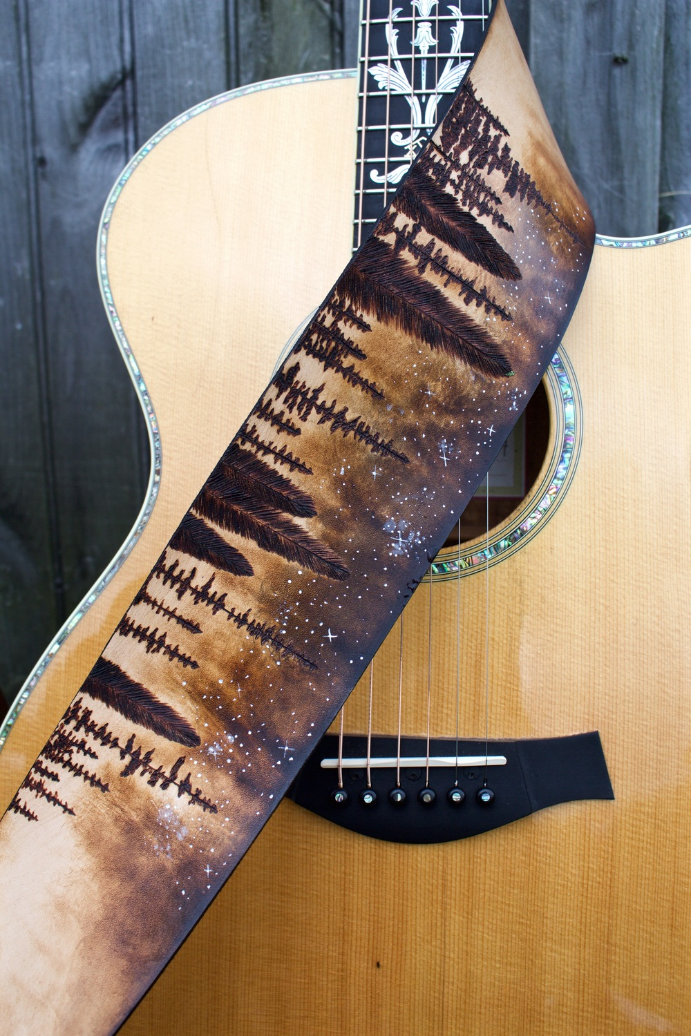 Forest and Stars Guitar Strap 1.jpg