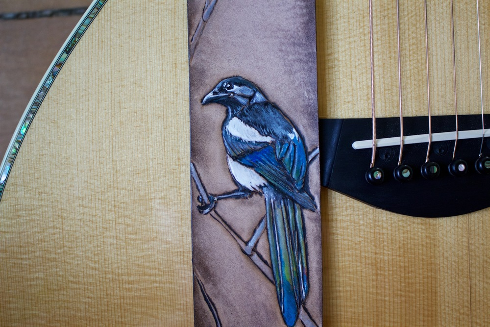 Eurasian Magpie guitar strap 3.jpg