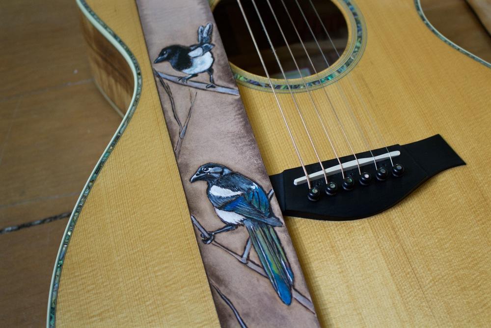 Eurasian Magpie guitar straps 1.jpg