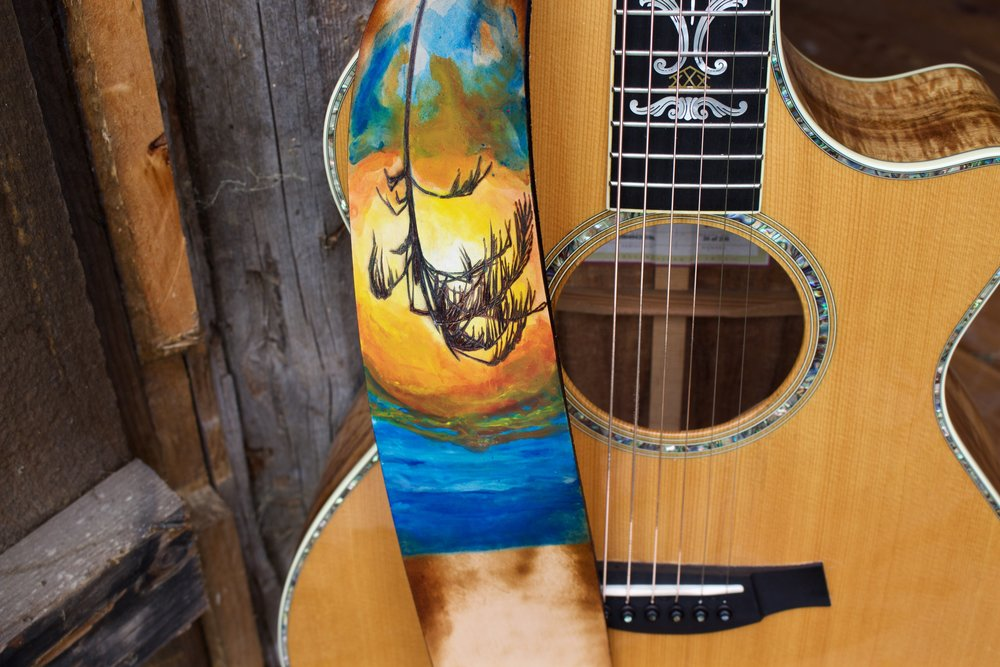 Palm Tree guitar strap