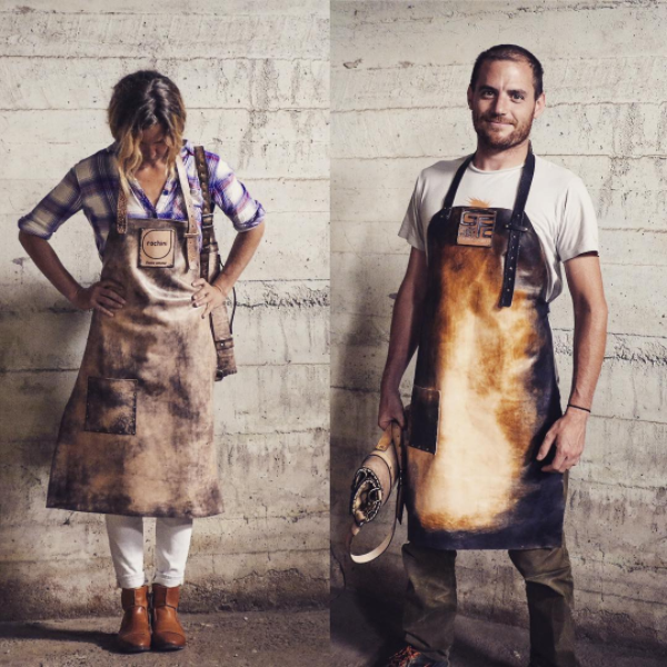 Leather chef's aprons