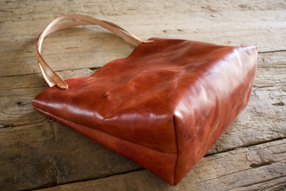 Mahogany Leather Tote