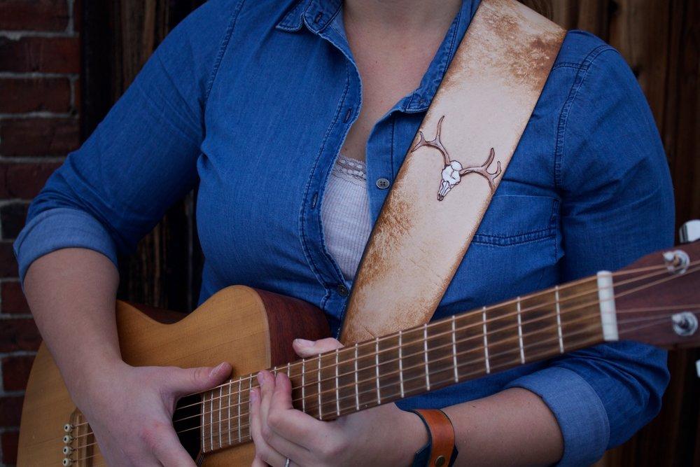 Deer Skull Guitar Strap