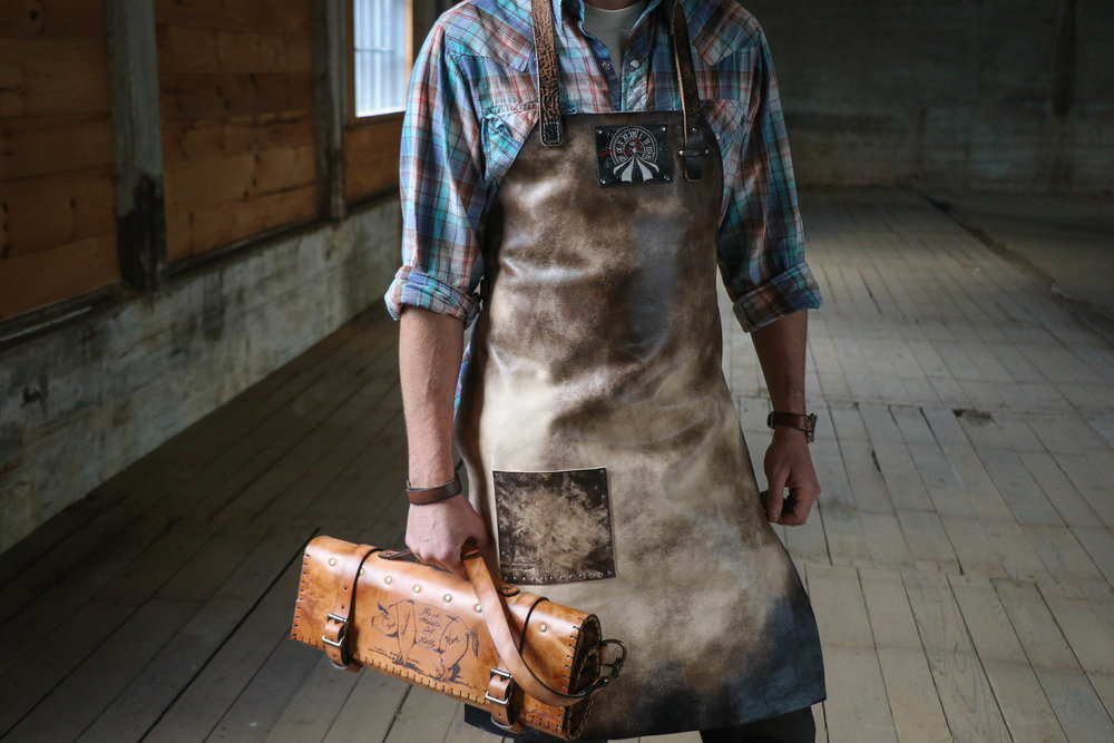 Custom apron and butchers knife roll 1.jpg