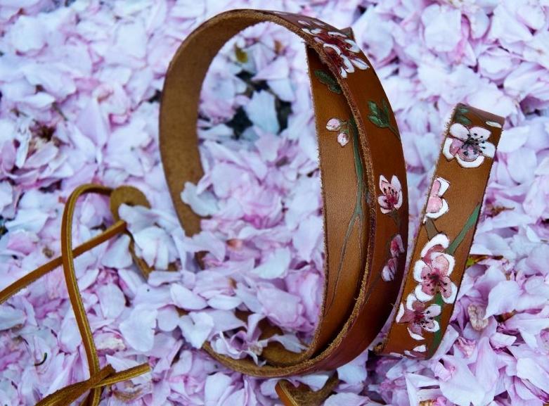 Cherry blossom guitar strap .jpg