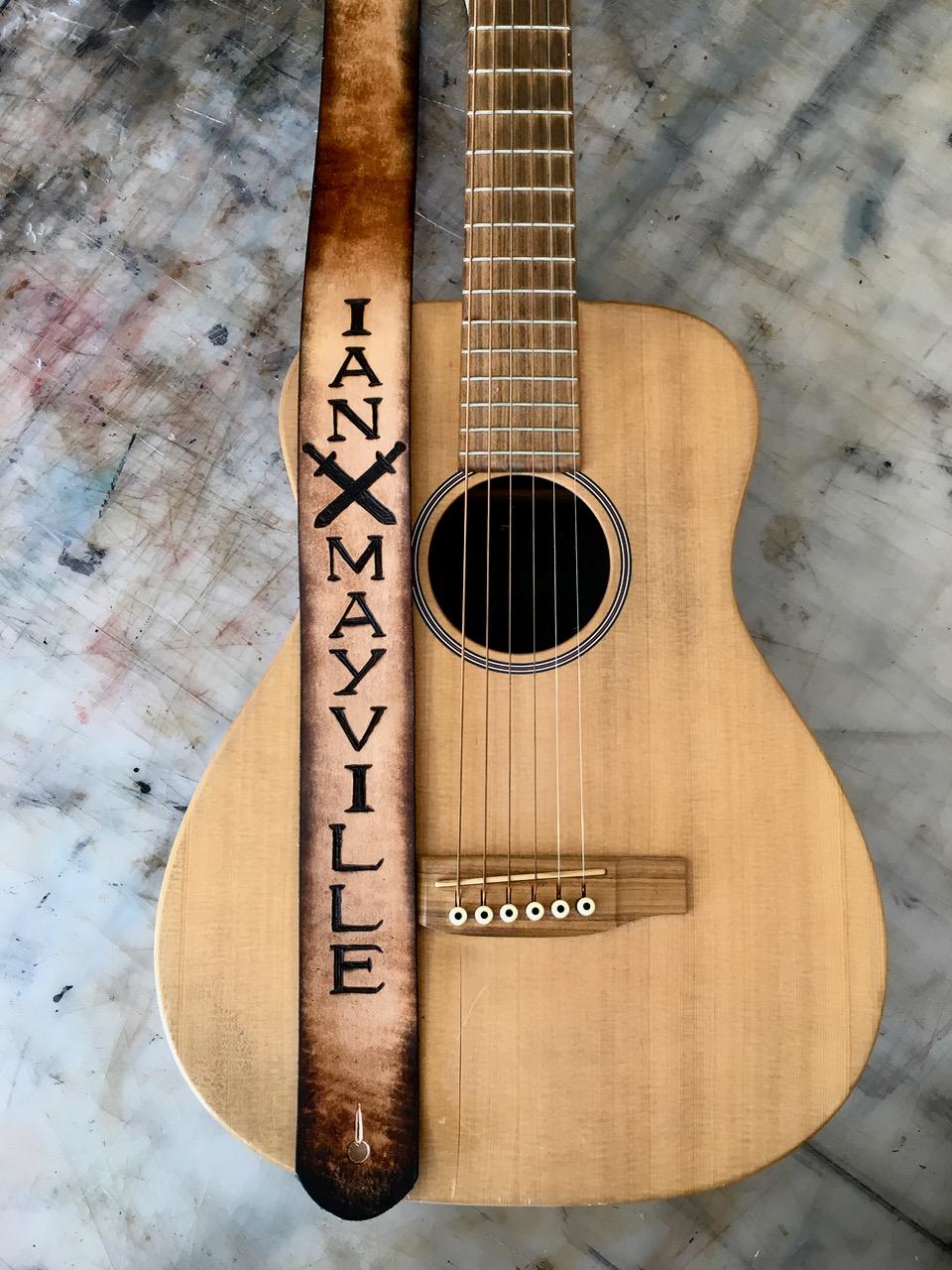 custom name guitar strap