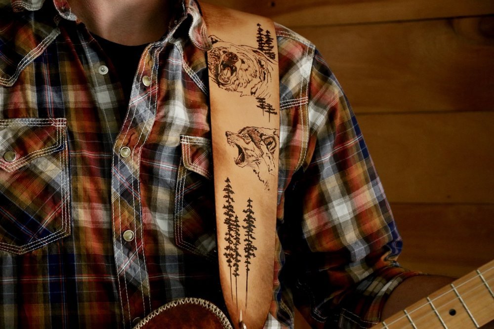 Bear and Wolf Guitar Strap