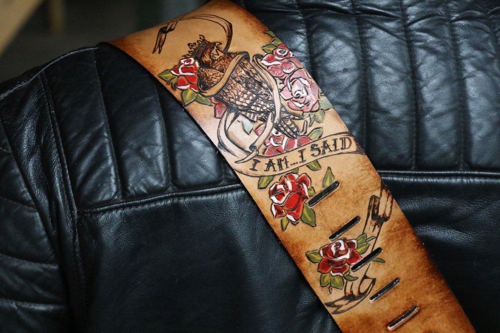 I am...I said custom guitar strap