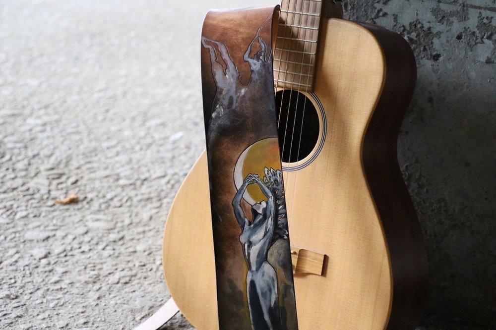 Moon Goddess Guitar Strap