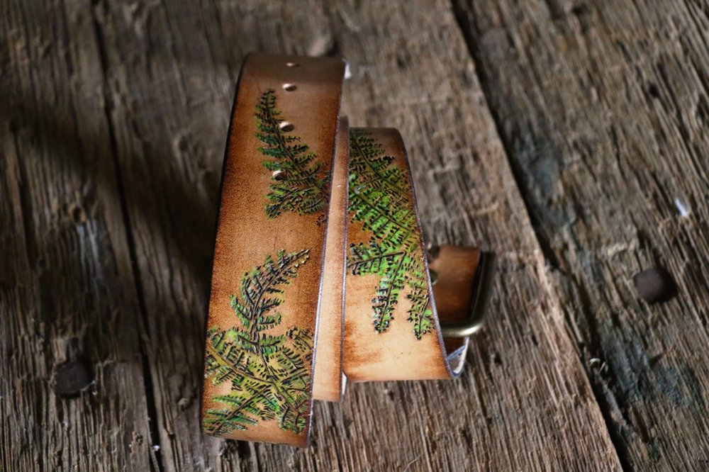 Custom fern belt