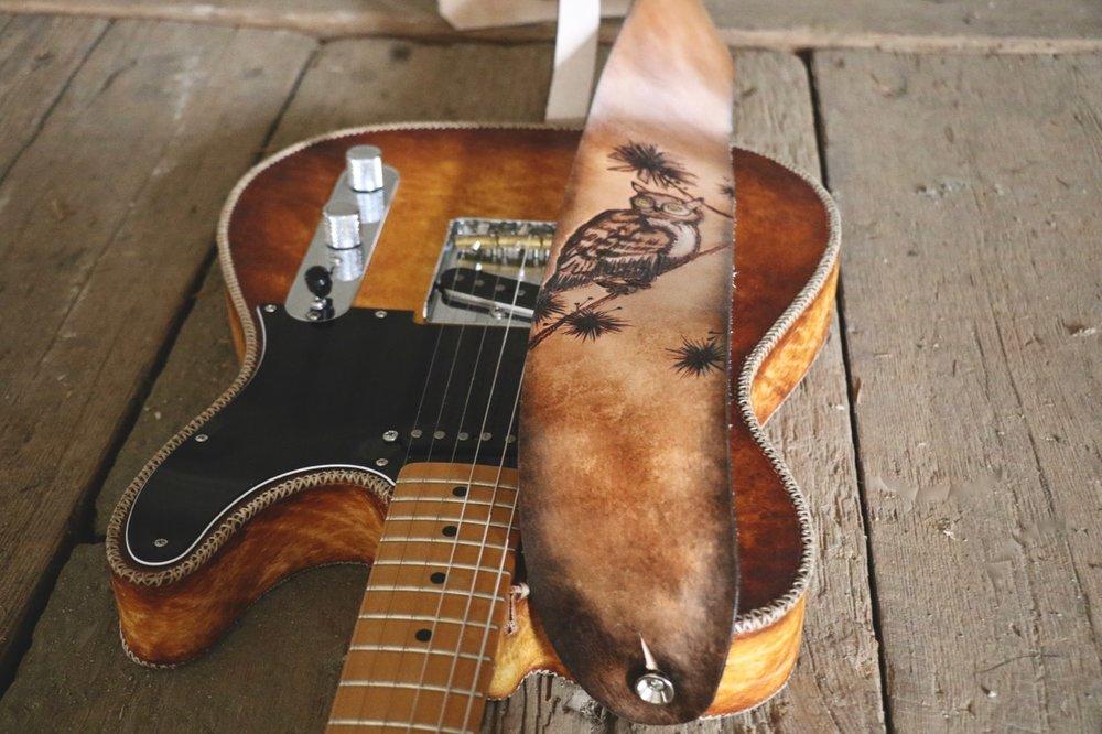 owl guitar strap