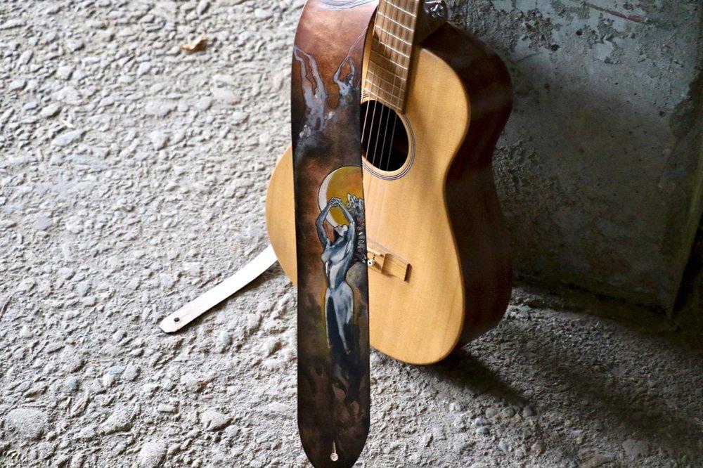 Moon Goddess wabi sabi guitar strap 2.jpg