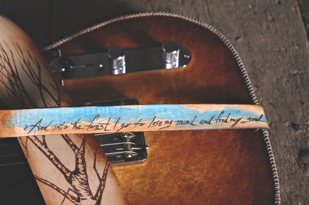 Tree Guitar Strap by Linny Kenney