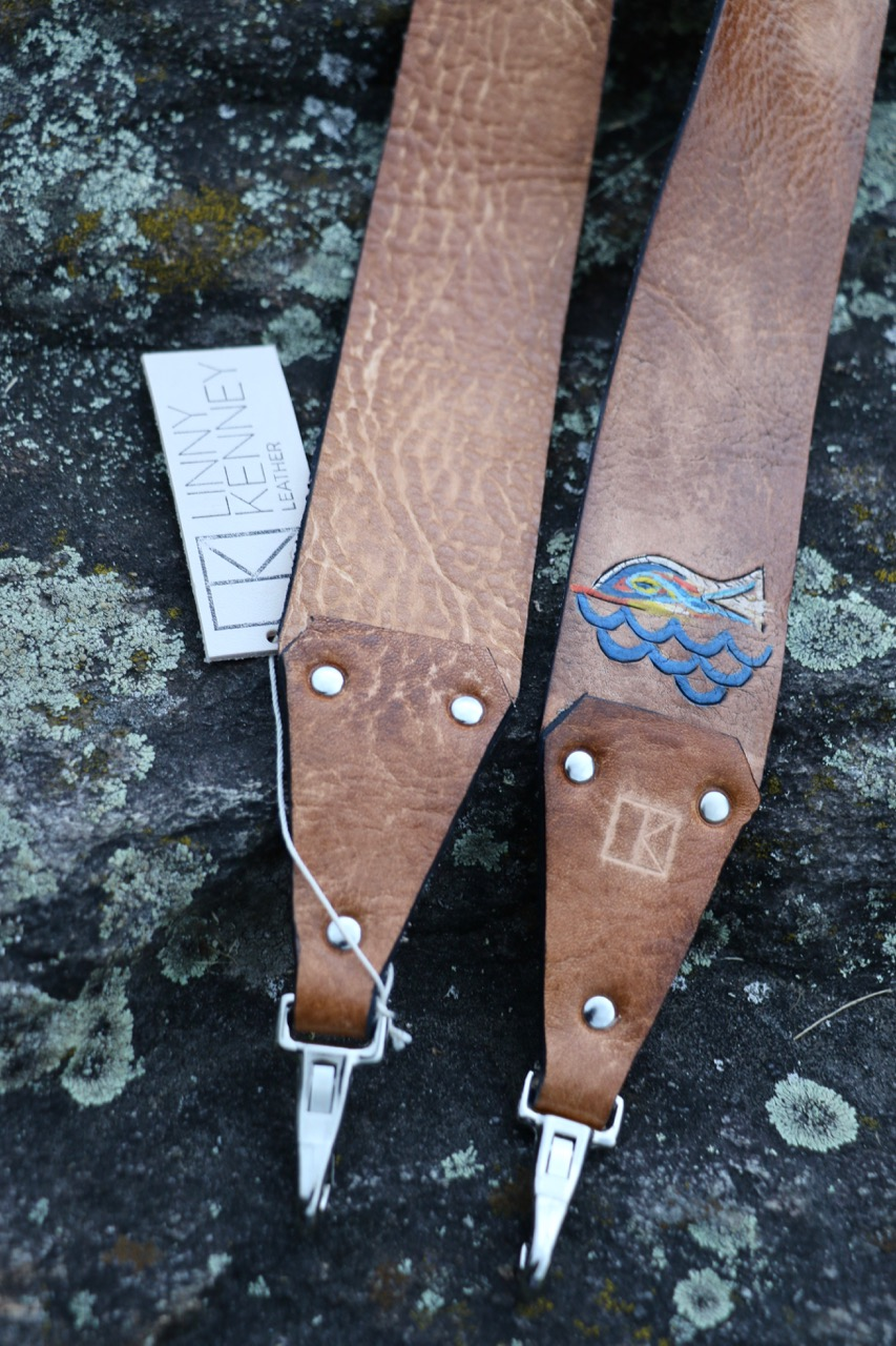 custom camera strap with fish
