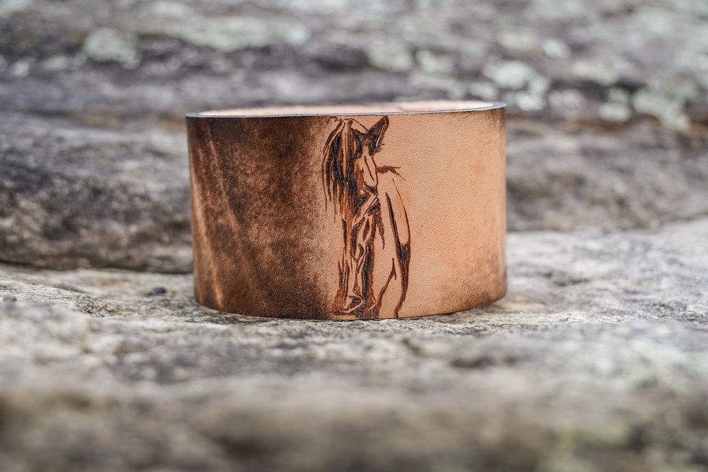 leather horse cuff