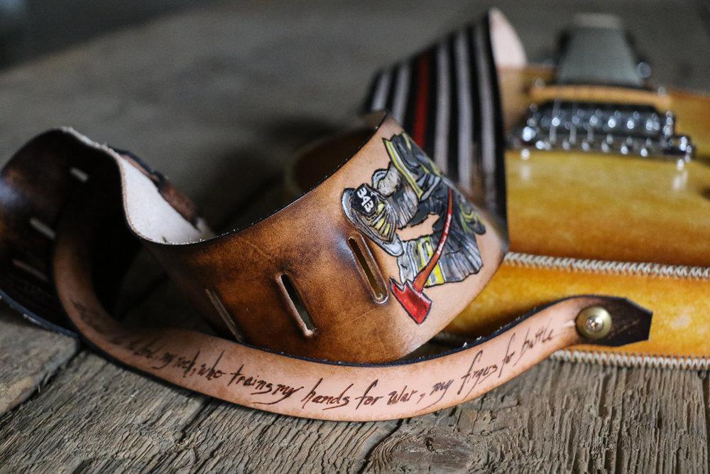 fallen firefighter guitar strap