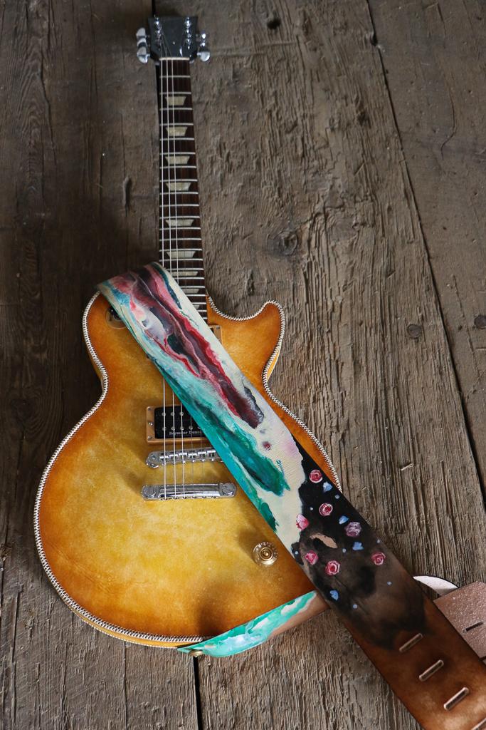 artist guitar strap
