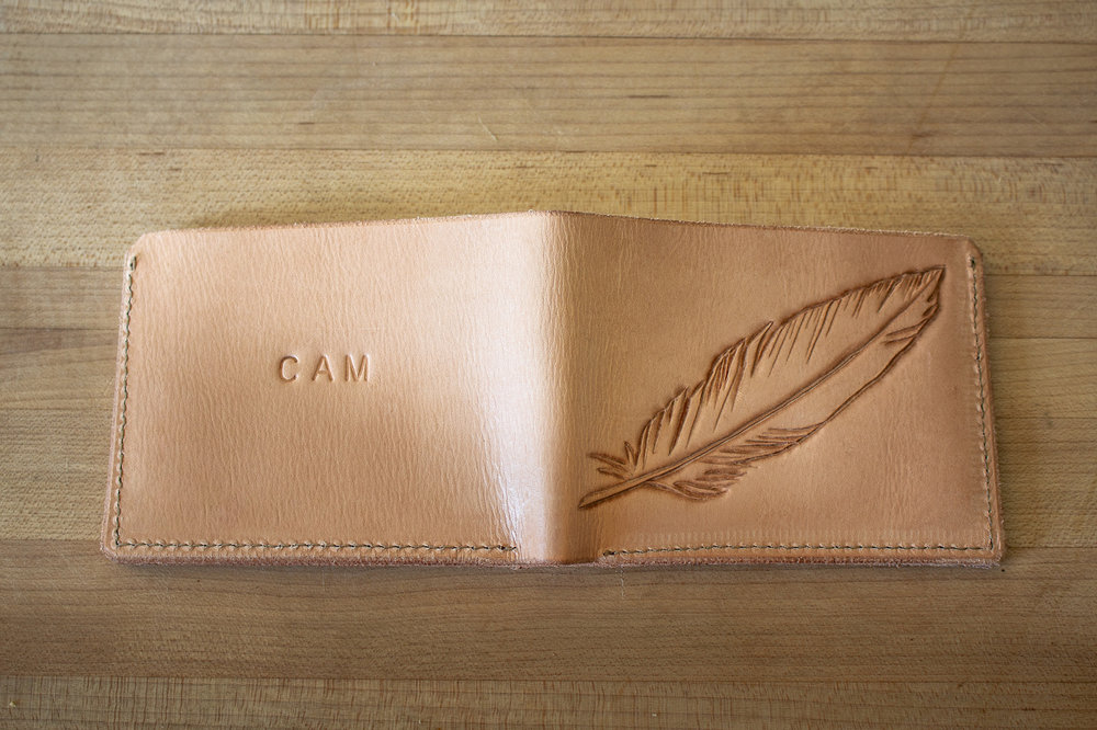 Feather Wallet by Linny Kenney
