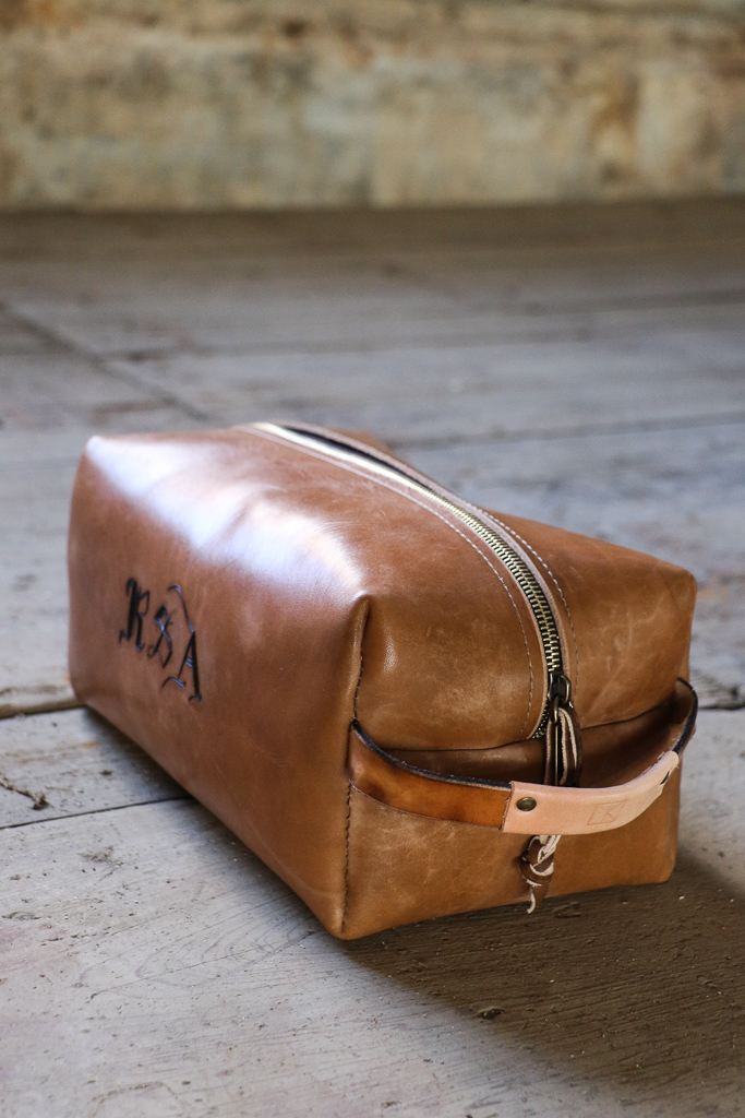 Leather Dopp Bag by Linny Kenney