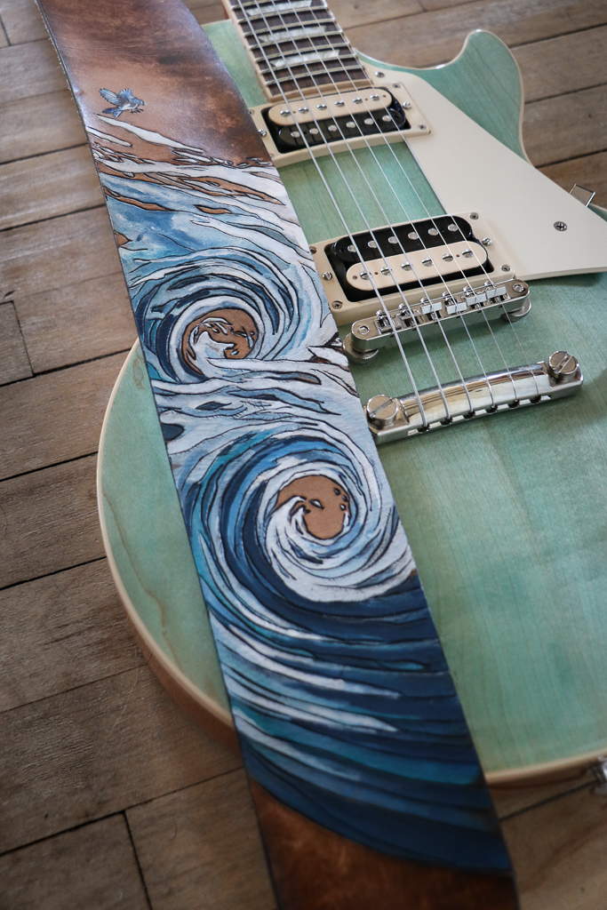wave guitar strap