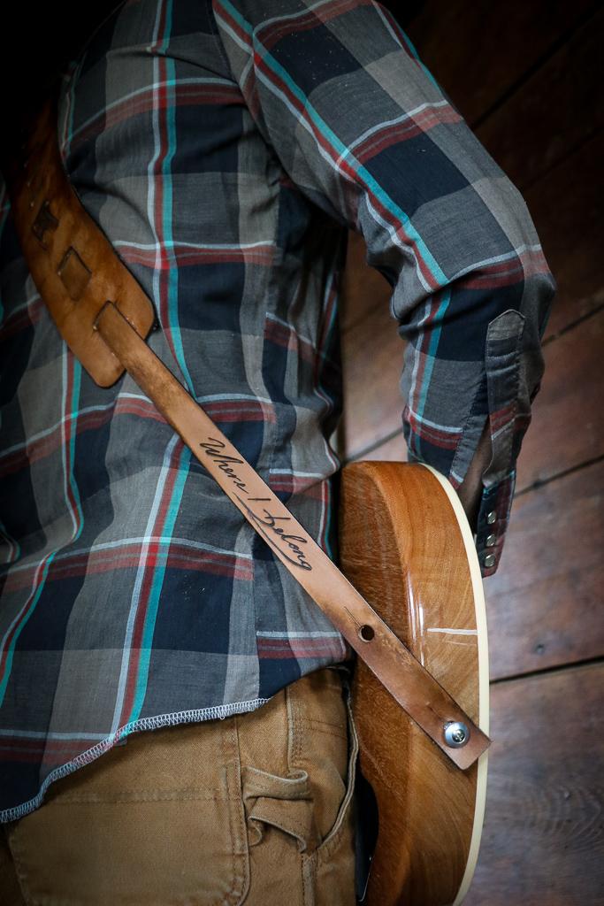 mountain line custom leather guitar strap
