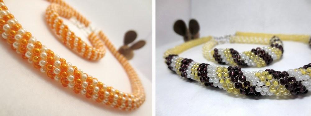 Perlenketten mit passendem Armband