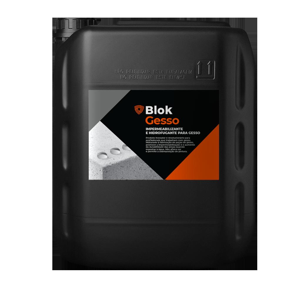 BlokGesso | Hidrofugante para gesso - Aditivo hidrofugante para artefatos de gesso.