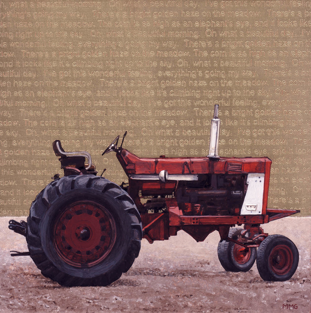 "Tractor - Beautiful Morning - 8"" x 8"""