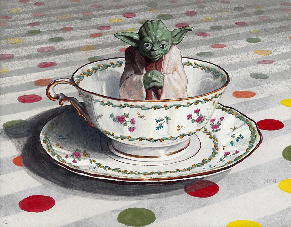 """Yoda in Spring - 7"""" x 5.5"""""""