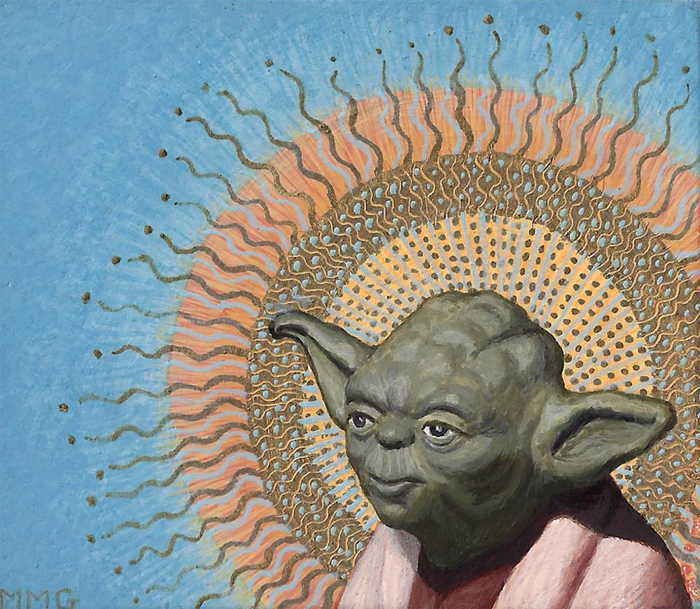 "Yoda with Halo - 3"" x 3.5"""