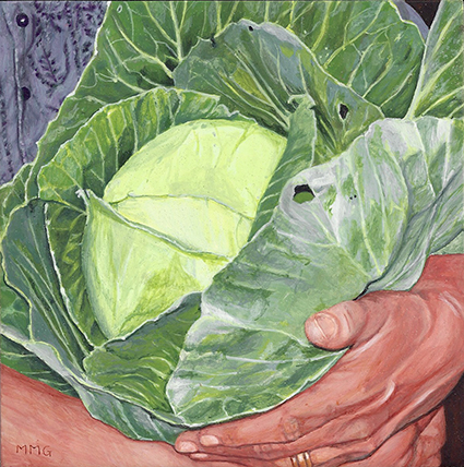 "Cabbage for John - 7"" x 7"""