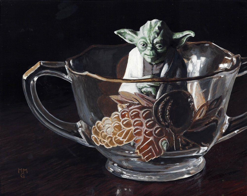 "Yoda in a sugar bowl - 5.5"" x 7"""