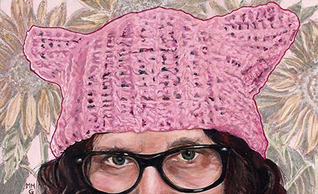 "pussy hat - 4"" x 6.5"""