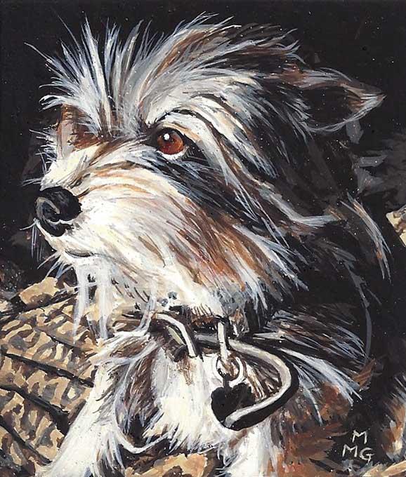 "Sunny dog - 3"" x 3.5"""