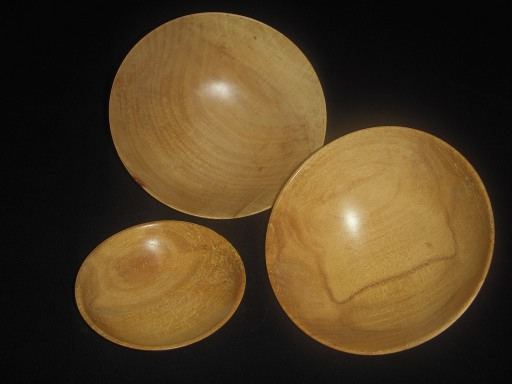 Set of Maple Bowls