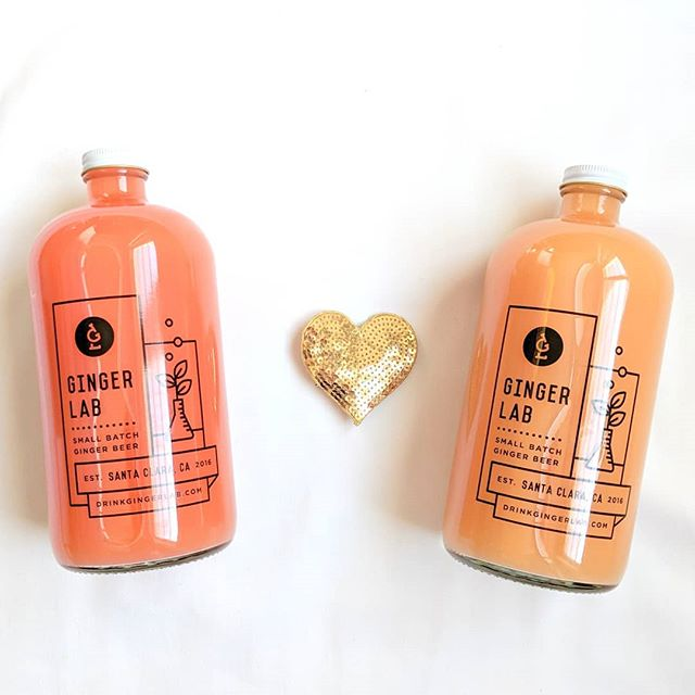 How about something you both can enjoy this Valentine's day?  #ditchtheflowersandchocolate  On tap tomorrow at the Mt.View farmers market (Sundays, 9am-1pm) is our Original, Guava and Blood Orange. See you there!  #drinkgingerlab #smallbatch #gingerbeer  #valentinesday2018 #loveday #valetinesgift