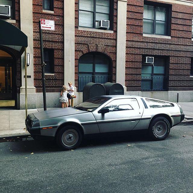 Driving '88 #delorean #88miles #classiccar #nyc